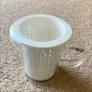 Loveramics glass mug with filter and lid